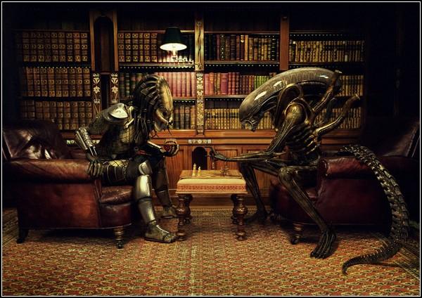 Hasta los extraterrestres prefieren desafiarse en el tablero que a guantazos.
